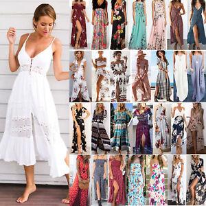Women-Boho-Floral-Long-Maxi-Midi-Dress-Lady-Evening-Party-Beach-Summer-Sundress