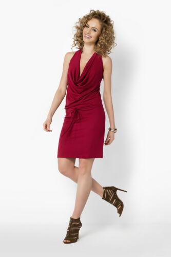 Mini vestido sin mangas para mujer Capucha Cuello Espalda descubierta Al cuerpo además de los tamaños 8-18 FM23