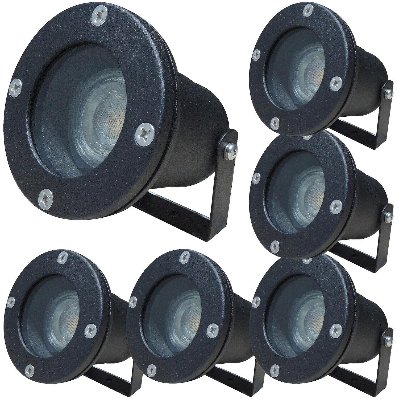 7W - IP68 LED Boden Einbaustrahler   Garten-, Haus-, Wegleuchte   230V   500ln