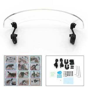 Motorcycle-Universal-Clip-On-Windshield-Wind-Screen-Deflector-Extension-Spoiler