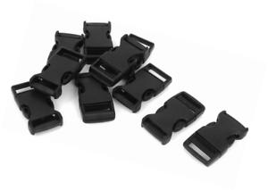 SourcingMap lado de liberación rápida hebillas de plástico ® Correa de las correas Broche 20mm 10 piezas