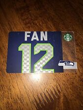 Starbucks SEATTLE SEAHAWKS 12th Man Gift Card 2014 NO Value NEW Ltd Edition