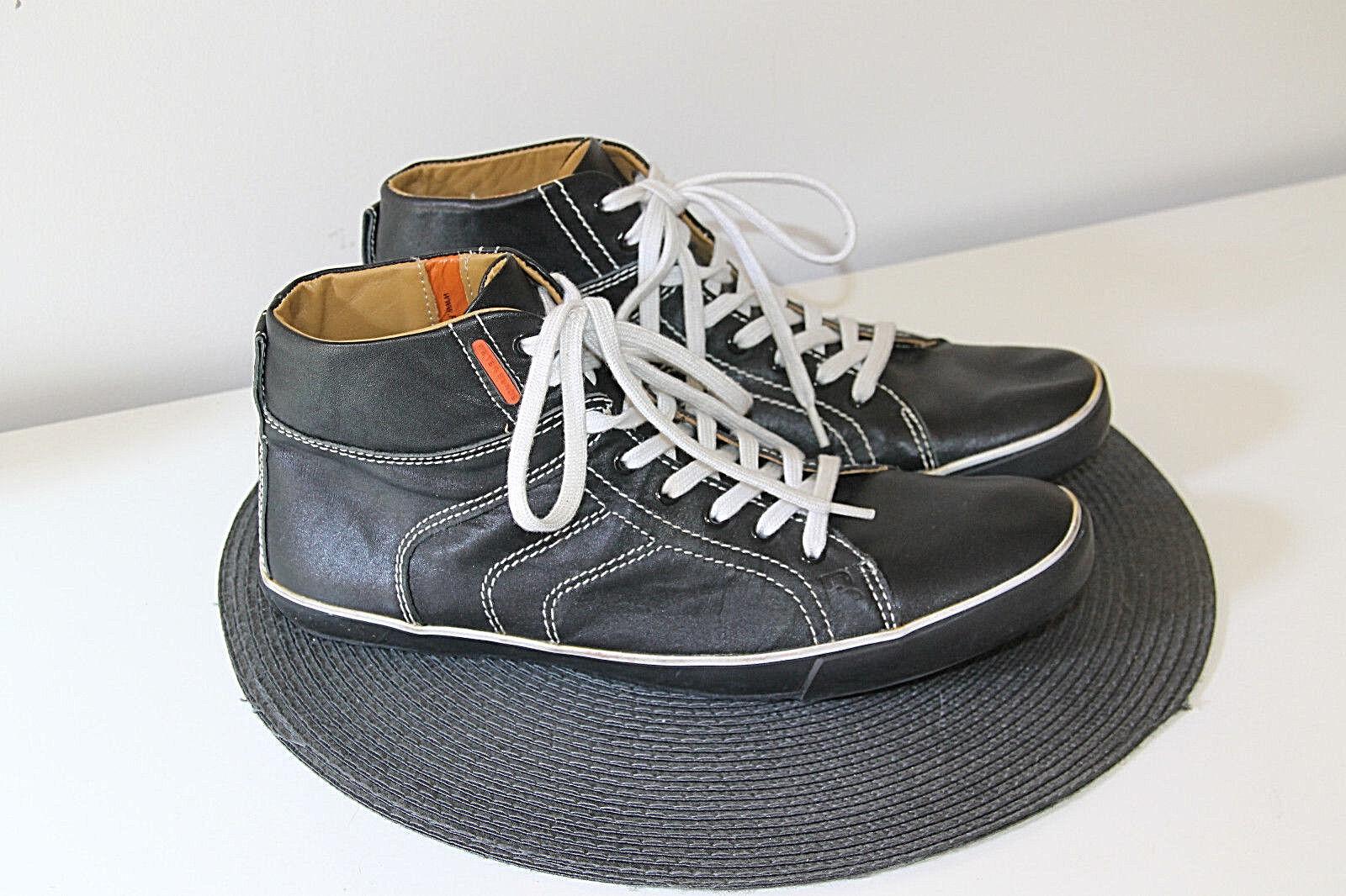 Zapatillas de Cuero Negro Hombre Peter Blade como Nuevo