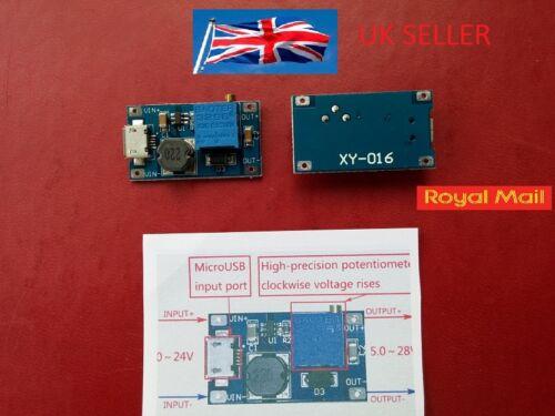 2A Booster Board DC-DC Step-up Module 2//24V Boost To 5//9//12//28V Adjustable UK