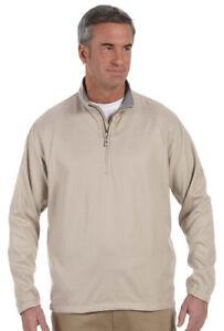 Ashworth-Men-039-s-Drawstring-Waistband-Mock-Neck-Polyester-Half-Zip-Jacket-5330