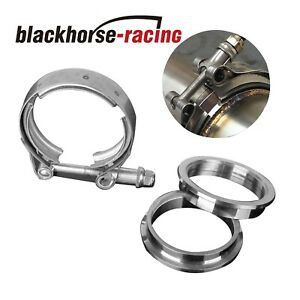 """4inch V-band Clamp 4"""" stainless steel Flange Male-Female for Exhaust Downpipe"""