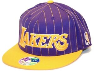 cc600d5f56e Los Angeles LA Lakers adidas TX87Z NBA Basketball Team Pinstripe Cap ...