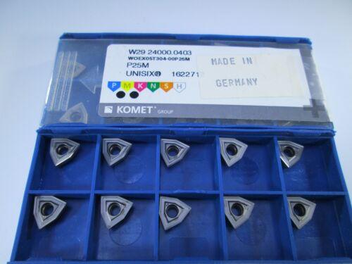 KOMET W29 24000.0403 WOEX05T304-00P 25M DRILL CARBIDE INSERT TOOL BOX 10 PCS
