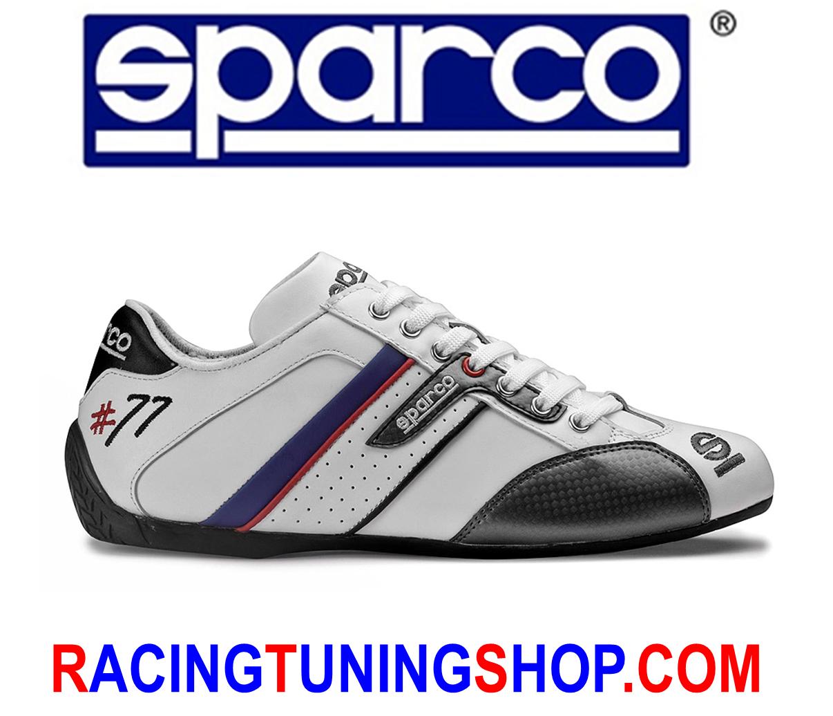 Schuhe Sparco time 77 Gr 44 weiß Turnschuhe leather Größe 44