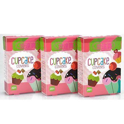 60 PCs/3Boxes Assorted Cupcake Adhesive Bandages Cute Girls Hemostasis Band aid