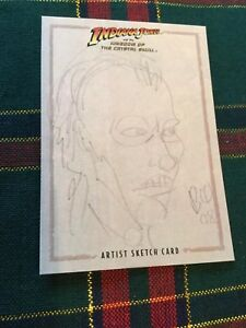 Details about 2008 Indiana Jones Kingdom of the Crystal Skull Sketch Card   TAYLOR by Woodside