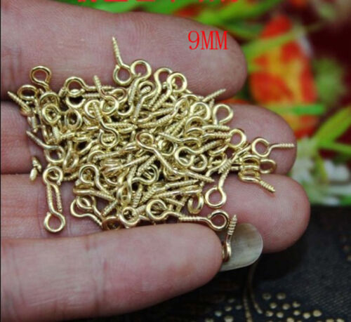 Lots 100-300PCS Curtain Eye Hooks Wire Picture Frame 9//13MM Photo Hanging Loop