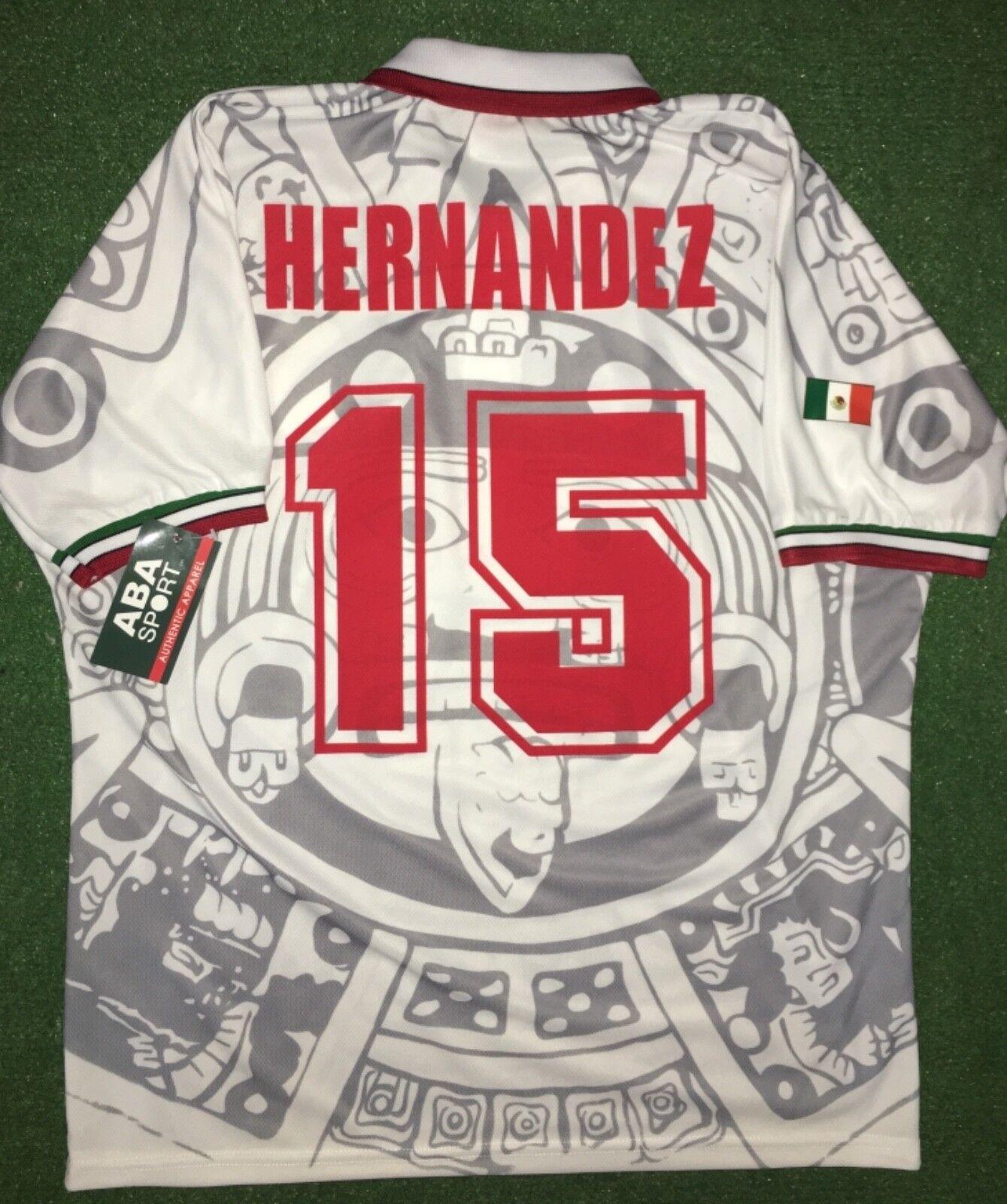 México Away 1998 Talla XL. Luis Hernández WC 98, auténtico Camisa Aba Sport