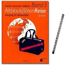 Altblockflöten-Reise Band 3 - mit 4CDs, MusikBleistift - ACM268 - 9990001110536
