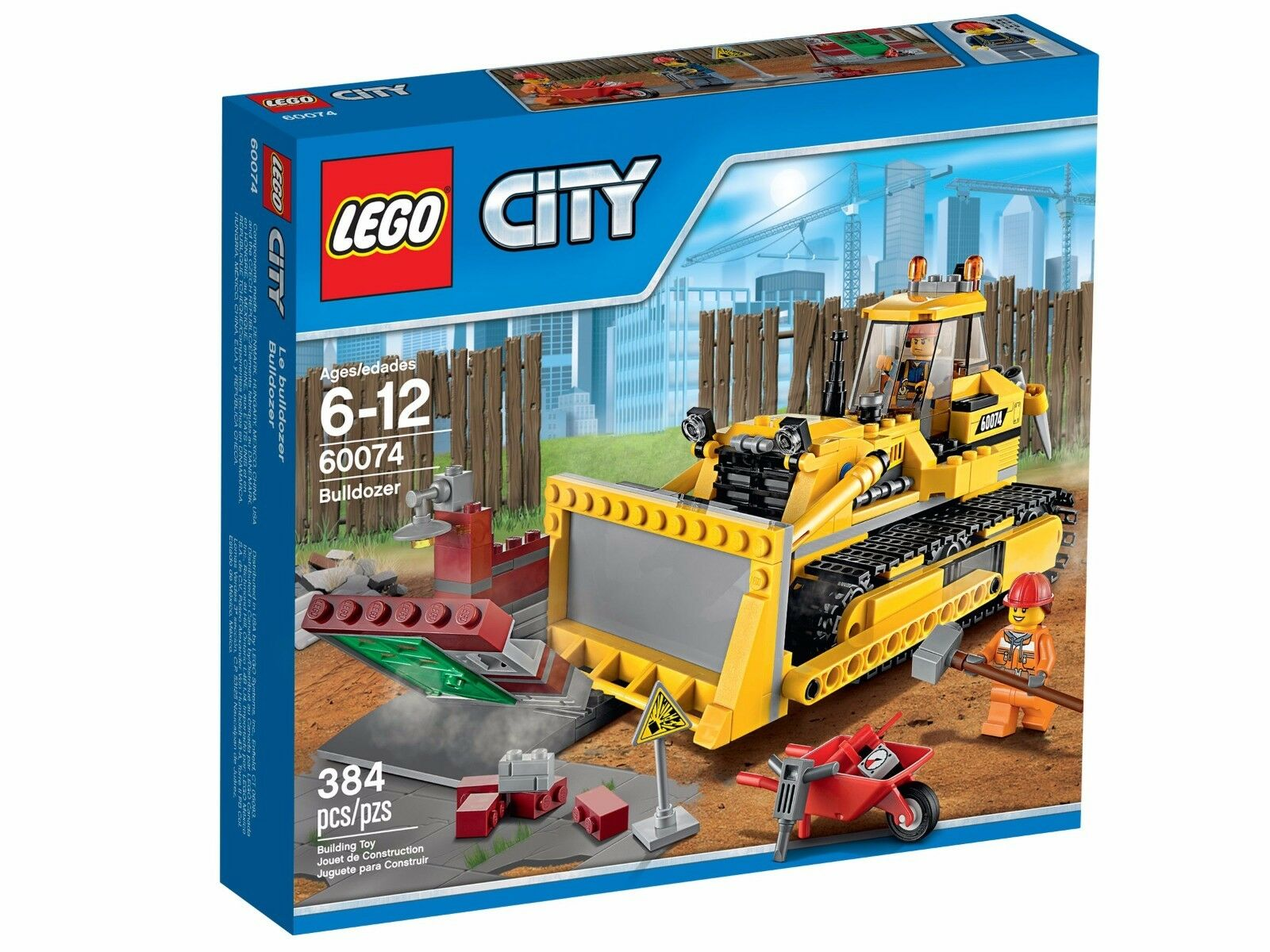 LEGO 60074 CITY BOX BULLDOZER  NEW  IN SEALED BOX CITY  LEGO CONSTRUCTION RETIROT ae47f7