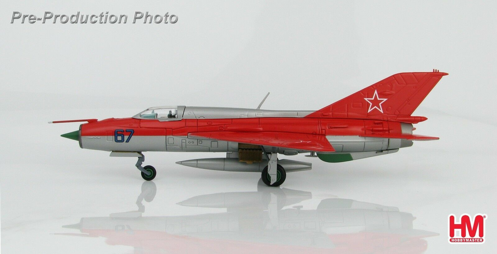 MiG-21PFM Fishbed-F  67 rosso Five Aerobatic Team Kubinka 1967 Hobbymaster HA0189