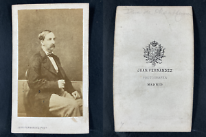 Fernandez, Madrid, Antoine Orléans, duc de Montpensier Vintage cdv albumen print
