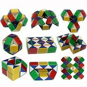 COLOURED-PUZZLE-SNAKE-PARTY-BAG-TOY-LIKE-RUBIKS-3D-MAGIC-CUBE-TWIST-NOVELTY-GIFT