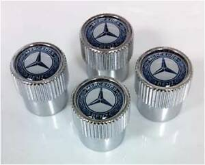 Genuine oem mercedes benz valve stem caps with mb star for Mercedes benz tire caps