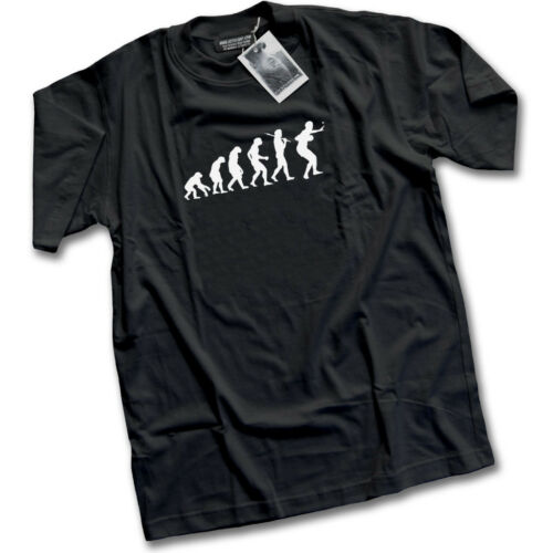 Evolution of Table Tennis or Ping Pong Mens Black T-Shirt Top