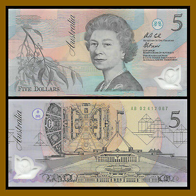 Australia 2001 5 Dollars Commemorative Polymer Bank Note UNC P56a 94894