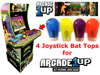 Arcade1up Teenage Mutant Ninja Turtles TMNT 4X Joystick Bat Top Handles UPGRADE!
