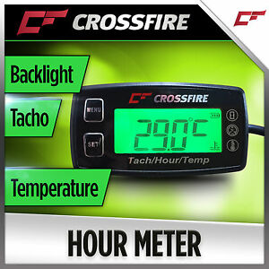 Details about Hour Meter Tacho Temperature Gauge (Backlight Replaceable  Battery) 2 Stroke 1-3