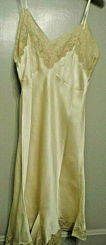 1920s 1930s  Ecru Silk Lace Embroidered Teddy Cami