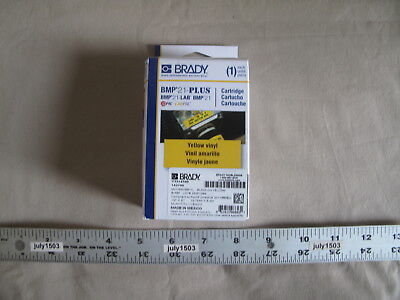 BRADY M21-500-595-YL Label Cartridge,Black//Yellow,1//2 In W
