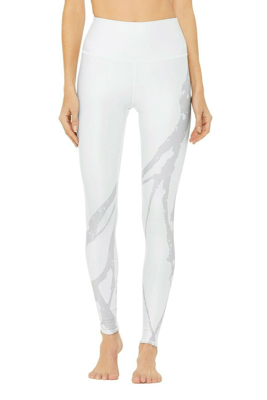 ALO Yoga WHITE ZUMA Airbrush Leggings-high Waist-Size Small