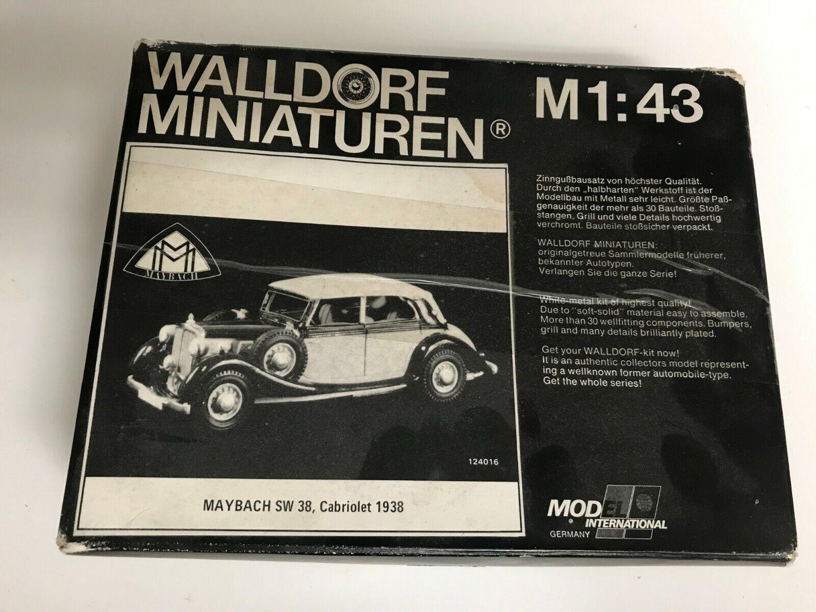 1938 kit de marketing Maybach SW38 Cabrio D por Walldorf Miniaturen 1 43 Muy Rara
