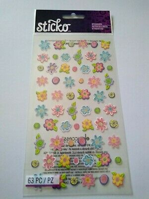 Sticko Stickers Small Teeny Tiny Flowers 015586795363