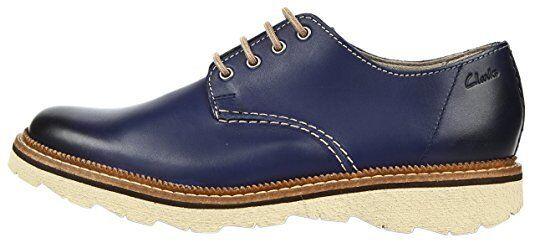 Clarks Uomo Passeggiata Frelan Passeggiata Uomo brunito blu, di pelle, chiaro g a4e093