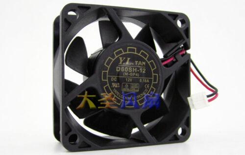 1pc YaLnFAN 6025 D60SH-12 fan DC12V 0.18A 60*60*25MM 2Pin Cooling FAN