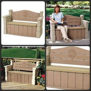 Awe Inspiring Details About Patio Storage Bench Deck Box Outdoor Indoor Brown Waterproof Seat Furniture New Forskolin Free Trial Chair Design Images Forskolin Free Trialorg