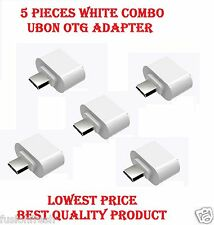 5 Pieces UBON White Micro USB Mini OTG Adapter For Samsung Galaxy Google Nexus 4