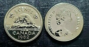 Canada-1982-Proof-Like-Five-Cent-Nickel