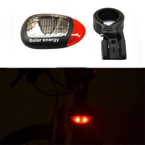 Solar Energy Rechargeable LED Bicycle Lamp Bike Tail Light Flash Warning Light E
