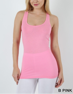 37f221ede982e New Zenana Outfitters L Stretch Cotton Jersey Racer Back Tank Top ...