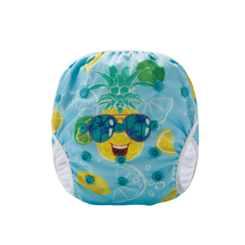 washable reuseable swimmer adjustable baby Cool Pineapple Swim Cloth Nappy