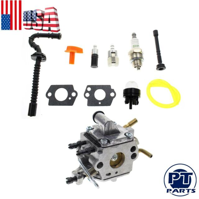 For Stihl Carburetor kit 1137-120-0650 Fuel hose Fuel Filter Parts Fits MS192