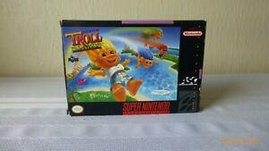 Super-Troll-Islands-Super-Nintendo-Game-Cartridge-SNES-Box-Instructions-Working
