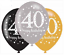 AGE-40-Happy-40th-Birthday-BLACK-amp-GOLD-SPARKLES-Party-Range-Banners-Balloons thumbnail 17