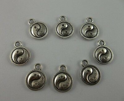 30pcs Tibetan silver Yin and yang  charms pendant  13x10mm