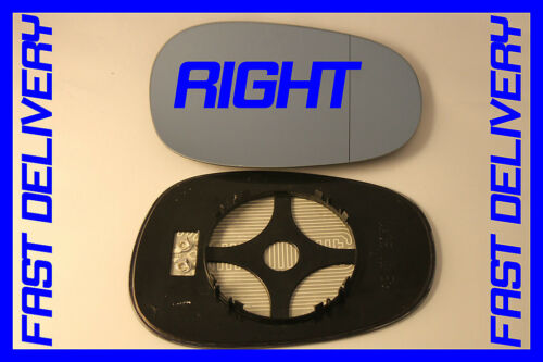 DOOR WING MIRROR GLASS BLUE HEATED RIGHT BMW 3 SERIES E91 316i 318d 2008