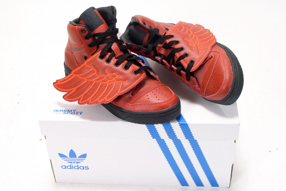 ADIDAS BY JEREMY SCOTT JS WINGS BBALL TRAINERS rouge NEW SNEAKERS 8UK 42EU