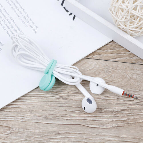 3pcs Magnetic Headphone Earphone Cord Winder Wrap Organizer Cable Tie Holder fg