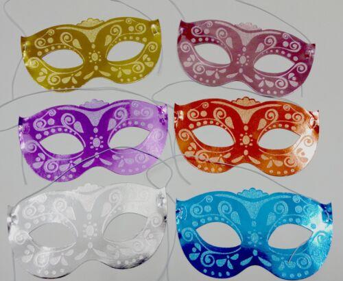 Masques 12pc Glitter Brillant Enfants Fête Anniversaire Sac Jouet Déguisement