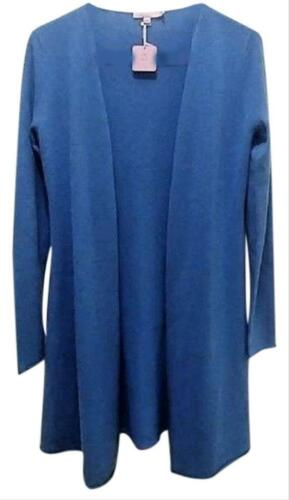 Calypso St Barth Cashmere Duster Open Front Cardigan Long Sleeve MSRP $295 Blue