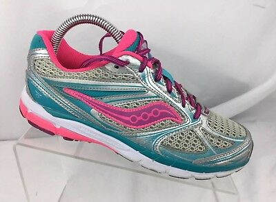 New Saucony Ride 8 Running Sneaker Turq Turqpoise Blue S97000-4 Girls Youth Size